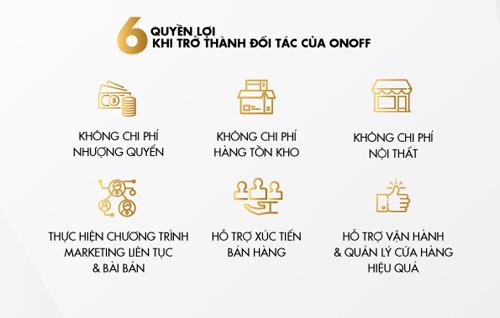 ONOFF công bố chính sách nhượng quyền ưu đãi thu hút nhà đầu tư