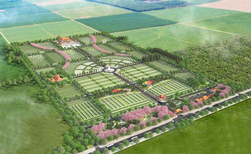 Phối cảnh tổng thể dự án công viên nghĩa trang Hoa Viên Bình An. Hotline: 0902462828 - 028.22462828.