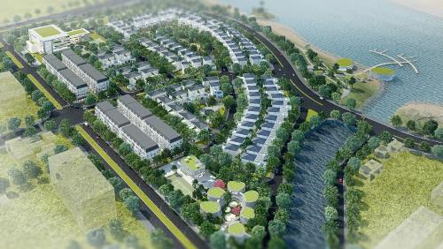 Phối cảnh dự án Làng quốc tế Việt kiều Hải Phòng.