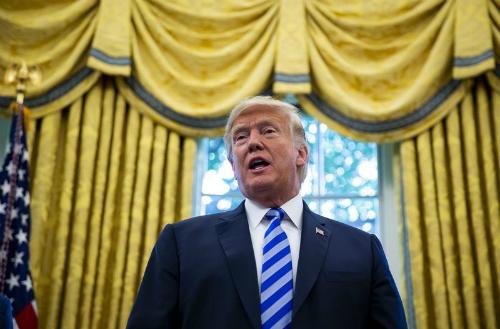 Tổng thống Mỹ - Donald Trump tại Nhà Trắng. Ảnh: Bloomberg