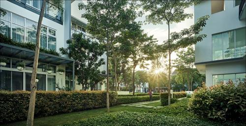 ParkCity Hanoi thiết kế gần gũi với thiên nhiên.