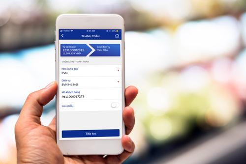 Giao diện thanh toán hóa đơn trên BIDV SmartBanking.