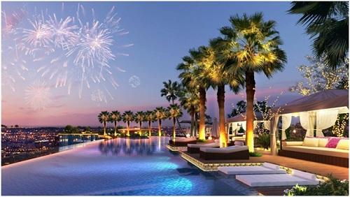 Bể bơi Panorama giúp cư dân thư giãn, thoải mái sau ngày dài mệt mỏi. Website: http://city.sunshinegroup.vn/. Hotline: 18006559