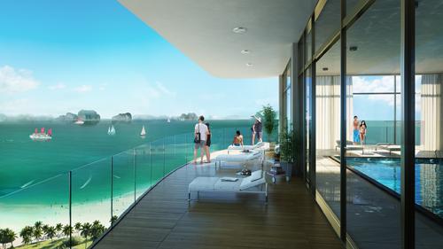 Dự án Citadines Marina Halong có hướng nhìn ra vịnh Hạ Long.