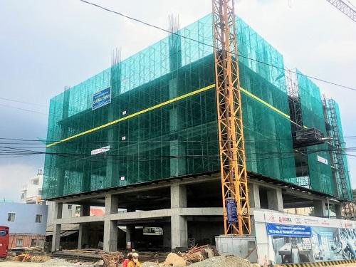 Hiện công trình đang thi công đến tầng 6, dự kiến hoàn thành và đưa vào khai thác cuối năm 2019.