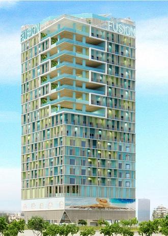 Phối cảnh dự án căn hộ - khách sạn cao cấp Fusion Suites Vũng Tàu.