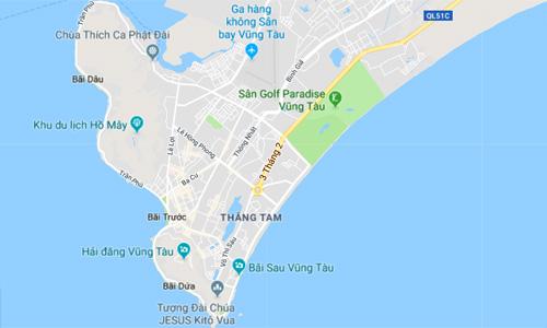 Dự án Paradise Vũng Tàu (màu xanh lá) đang được nhà đầu tư Hàn Quốc quan tâm.