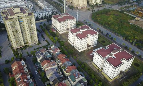 Những tòa nhà tái định cư tại Sài Đồng, Long Biên, Hà Nội. Ảnh: Giang Huy