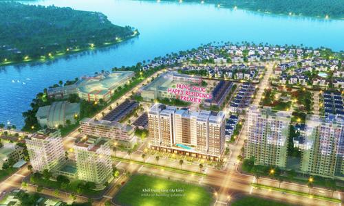 Phối cảnh khu căn hộHappy Premier - dự án mới vừa mở bán tại Phú Mỹ Hưng.