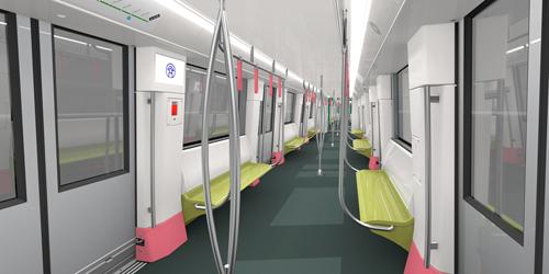 Đoàn tàu metro tuyến số 3 được thiết kế phù hợp với nhu cầu hành khách. Tay nắm trên tàu được thiết kế dựa trên nghiên cứu nhân khẩu học, phù hợp với chiều cao và hình dáng của người Việt.