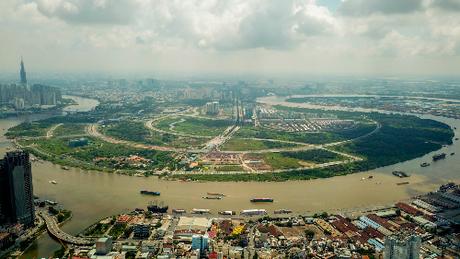 Khu đô thị mới Thủ Thiêm, quận 2, TP HCM là địa bàn sôi động thu hút nhà đầu tư châu Á. Ảnh: Quỳnh Trần