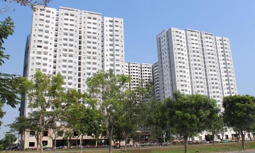 Một dự án nhà ở xã hội do doanh nghiệp tư nhân làm chủ đầu tư tại vùng ven khu Nam TP HCM. Ảnh: Hà Thanh
