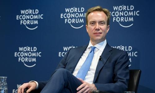 Chủ tịch WEF - Borge Brende trong một sự kiện hồi tháng 1. Ảnh: AFP