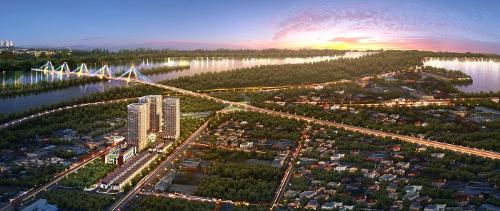 Sunshine Riverside tọa lạc tại vị trí tâm điểm của khu vực Đầu Rồng khi nằm ngay tại bờ Nam sông Hồng.