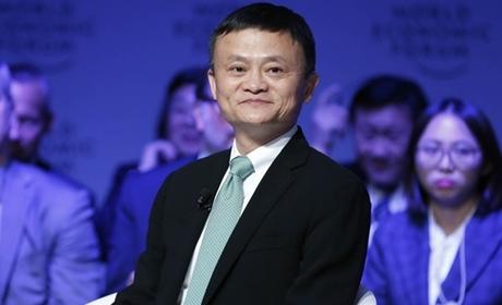 Jack Ma trong một sự kiện của Diễn đàn Kinh tế Thế giới (WEF). Ảnh: SCMP