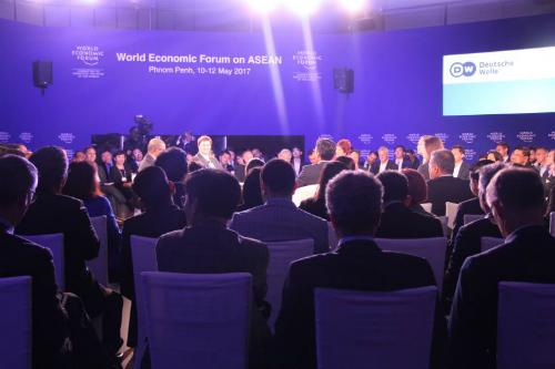 Diễn đàn Kinh tế Thế giới về ASEAN năm ngoái tổ chức tại Campuchia. Ảnh: Phnom Penh Post