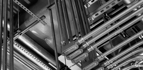 Ống thép luồn dây điện được sử dụng trong nhiều công trình