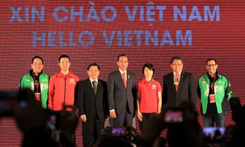 Tổng thống Indonesia - Joko Widodo dự lễ ra mắt Go - Viet. Ảnh: Anh Tú