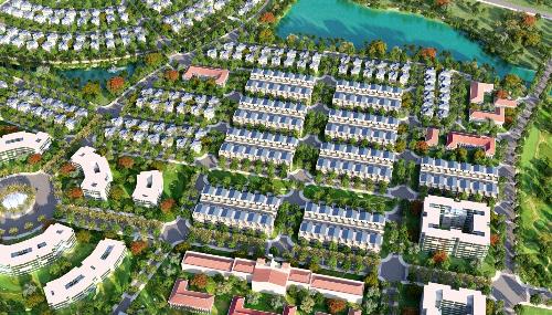 Phối cảnh phân khu D -nơi tập trung các dãy nhà phố thương mại đẹp nhất khu đô thị sinh thái phức hợp King Bay.