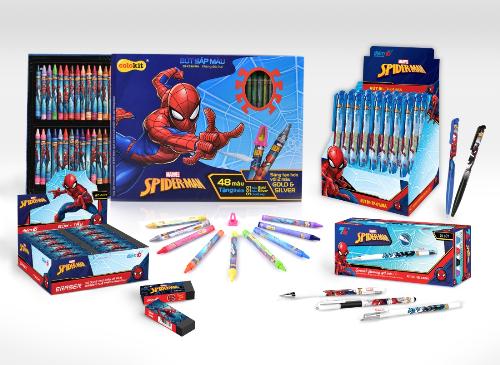 Bộ đồ dùng học tập Spiderman của Thiên Long.