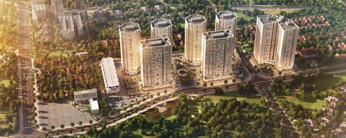 Dự án Mipec City View có 7 tòa nhà cao 25 tầng tại Hà Đông, Hà Nội.