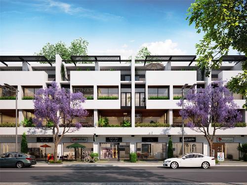 Mẫu nhà phố thương mại của King Bay thiết kế hài hòa công năng vừa ở vừa kết hợp kinh doanh.
