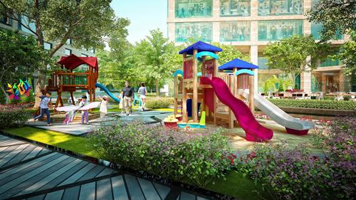 Khu vui chơi cho trẻ em ngay trong nội khu.