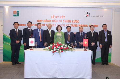 Hoàng Thành ký kết hợp đồng đầu tư chiến lược với Tập đoàn Sankei Building.