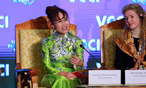 Chia sẻ của bà Nguyễn Thị Phương Thảo truyền cảm hứng mạnh mẽ cho các doanh nhân, doanh nghiệp khởi nghiệp tại hội nghị trong khuôn khổ Diễn đàn Kinh tế Thế giới (WEF) về ASEAN tại Hà Nội.