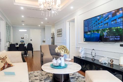 Các căn hộ Sunshine Garden đang được bán với mức giá chỉ từ 1,5 tỷ, bàn giao nội thất nhập khẩu cao cấp. Ảnh: Sunshine Garden