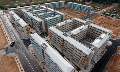 Một dự án nhà siêu rẻ từ 100 triệu đồng một căn tại Bình Dương. Ảnh: Duy Trần