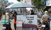 Nở rộ cà phê xe đẩy 'sạch' trên vỉa hè Sài Gòn