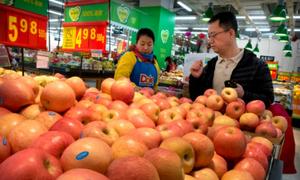 Các sạp trái cây ở Trung Quốc từ ngày vắng hàng Mỹ