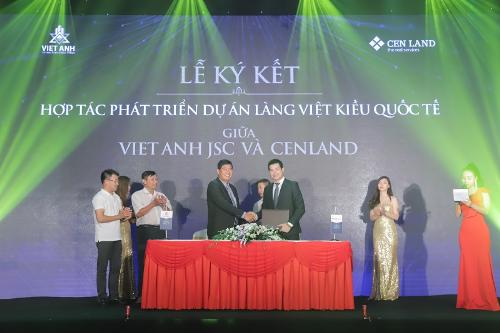 Đại diện chủ đầu tư Viet Anh JSC và CENLAND ký kết hợp tác chiến lược.