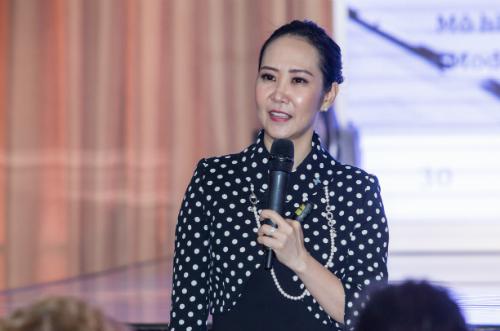 Bà Nguyễn Trịnh Khánh Linh Chủ tịch, Tổng giám đốc Dale Carnegie Việt Nam tại một sự kiện gần đây.