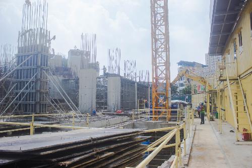 Trên công trường D. El Dorado II, công tác thi công đang được triển khai an toàn và đảm bảo tiến độ.