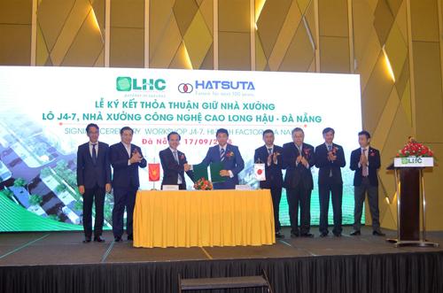 Trước sự chứng kiến của Lãnh đạo UBND TP.Đà Nẵng, Công ty Long Hậu đã ký kết thỏa thuận thuê nhà xưởng đầu tiên với doanh nghiệp Nhật Bản - Công ty TNHH Hatsuta Seisakusho