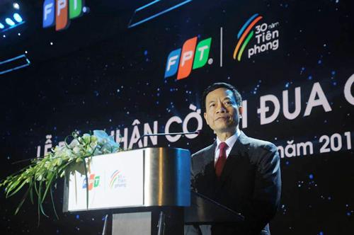 Bộ trưởng Nguyễn Mạnh Hùng phát biểu tại lễ kỷ niệm 30 năm ngày thành lập của FPT