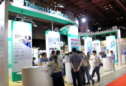 Khu vực Y tế Đài Loan tại triển lãm Y tế Quốc tế Việt Nam, diễn ra từ 19-22/9.