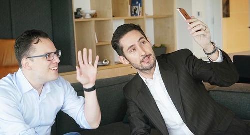 Hai đồng sáng lập Instagram - Mike Krieger và Kevin Systrom. Ảnh: Tech Crunch