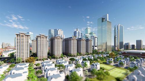 Theo chủ đầu tư, tổ hợp chung cư này gồm 5 tòa nhà cao 19 tầng, mỗi tầng 17 căn hộ và 5 thang máy tốc độ cao. các căn hộ có thiết kế thông minh, sử dụng vật liệu thân thiện môi trường với nhiều ban công, cửa sổ lớn và khe thoáng đón trọn ánh sáng khí trời. Mỗi căn hộ tại tổ hợp chung cư 5 tòa HH02 vừa tối ưu được diện tích sử dụng lại vừa gần gũi với thiên nhiên.