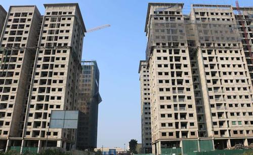 Một dự án tại Hà Nội nằm trong danh sách thế chấp. Ảnh: CĐT