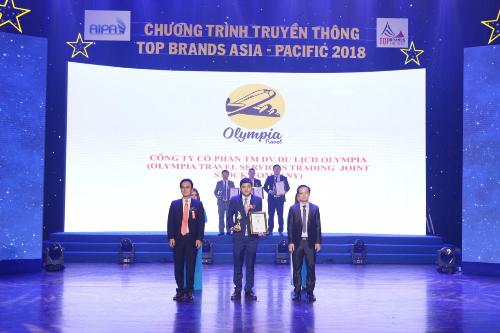 Olympia Travel xuất sắc lọt top 30 Thương hiệu hàng đầu Châu Á Thái Bình Dương 2018 (xin bài edit)