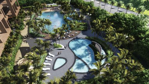 Bể bơi nước nóng 4 mùa, một trong những tiện ích cao cấp dành cho cư dân chung cư Startlake.