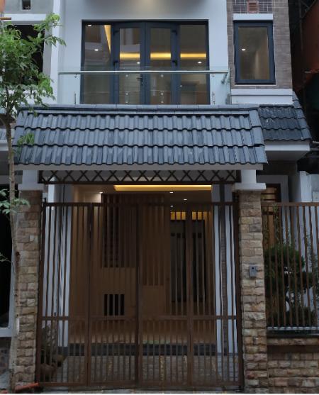 Sản phẩm nhà liền kề của dự án mang dáng dấp kiến trúc Nhật Bản.