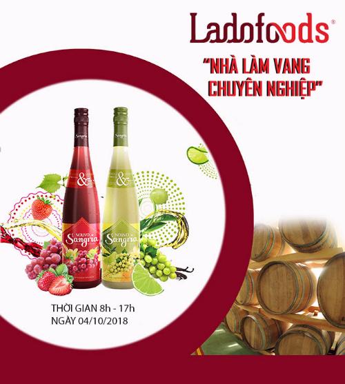 Bốn dòng vang của Ladofoods sẽ được giới thiệu tại triển lãm 30 năm thu hút đầu tư nước ngoài, diễn ta tại Hà Nội vào ngày 14/10.