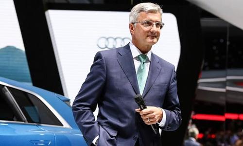 CEO Audi - Rupert Stadler trong một sự kiện của công ty. Ảnh: DW