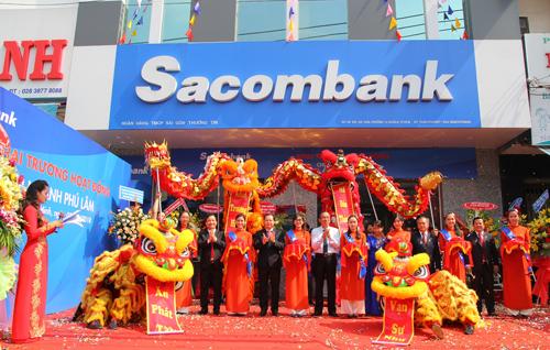 Lễ khai trương Sacombank chi nhánh Phú Lâm.