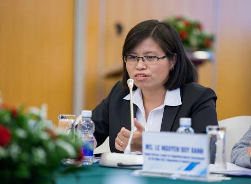 Bà Vương Thị Huyền, Phó tổng giám đốc kiêm Giám đốc khối khách hàng doanh nghiệp Ngân hàng VIB