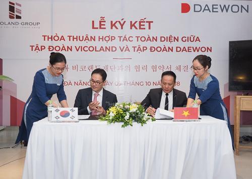 Tập đoàn Vicoland ký kết hợp tác toàn diện với Tập đoàn Daewon của Hàn Quốc.